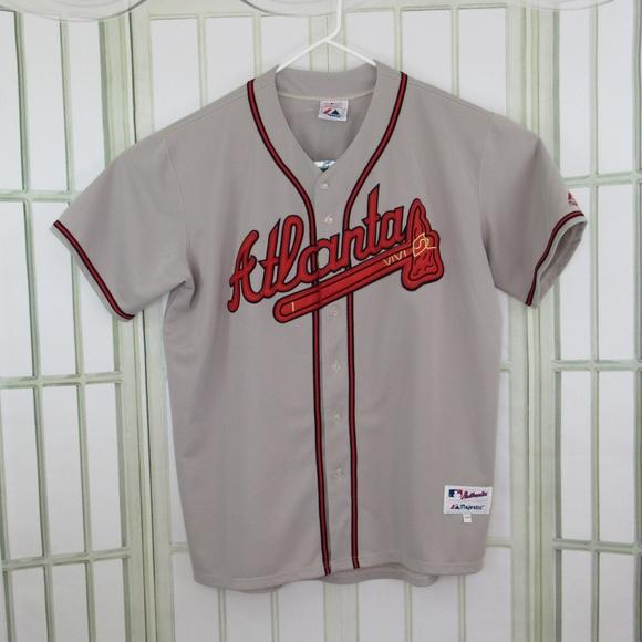 c31f0ee0 Majestic Shirts | Vtg Atlanta Braves Chipper Jones 10 Authentic ...